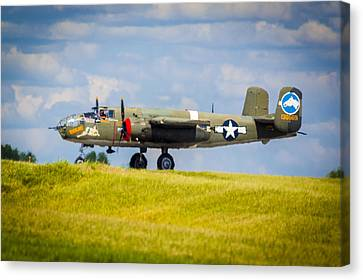 B-25 Landing Original Canvas Print