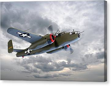 B-25 Mitchell Bomber Canvas Print by Gill Billington