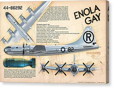 B-29 Enola Gay  Canvas Print by David Collins