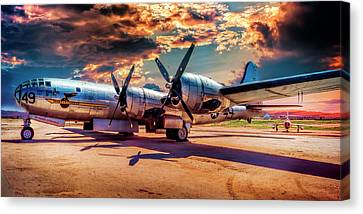 Canvas Print featuring the photograph B-29 by Steve Benefiel