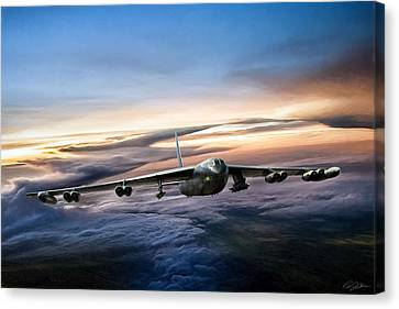B-52 Inbound Canvas Print by Peter Chilelli