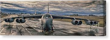 B-52 Canvas Print by Jim  Hatch