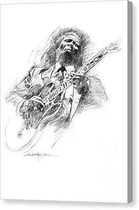 B B King And Lucille Canvas Print by David Lloyd Glover