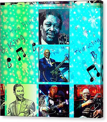 B B King Of The Blues  Canvas Print