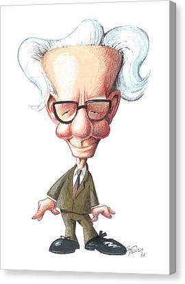 B. F. Skinner, Caricature Canvas Print