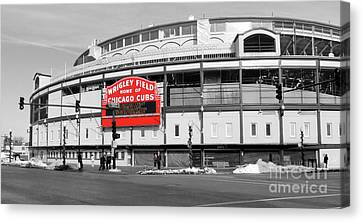 B-w Wrigley 100 Years Young Canvas Print by David Bearden