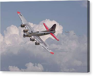 Canvas Print featuring the photograph B17 - The Last Lap by Pat Speirs