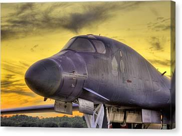 B-1b Heavy Canvas Print by JC Findley