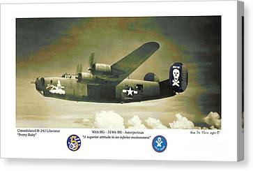 Canvas Print featuring the photograph B24-pretty Baby by Kenneth De Tore