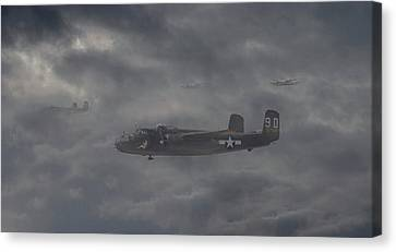 B25 - 12th Usaaf Canvas Print by Pat Speirs