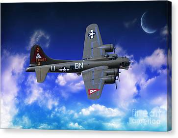 B17 Flying Fortress Canvas Print by Nichola Denny