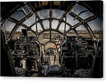 B29 Superfortress Fifi Cockpit View Canvas Print