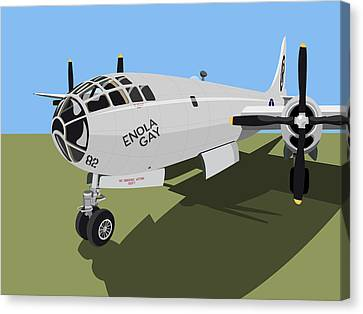 B29 Superfortress Canvas Print by Michael Tompsett