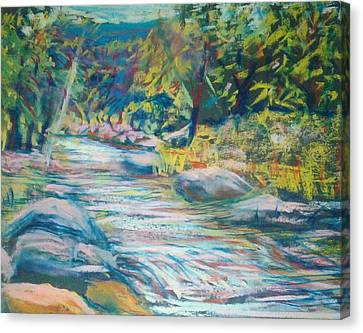 Babbling Brook Canvas Print by Richalyn Marquez