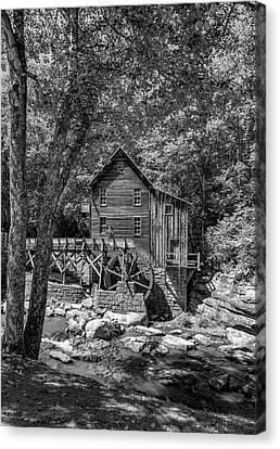 Babcock Grist Mill Bw Canvas Print by Steve Harrington