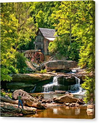 Babcock State Park Wv 2 - Paint Canvas Print by Steve Harrington