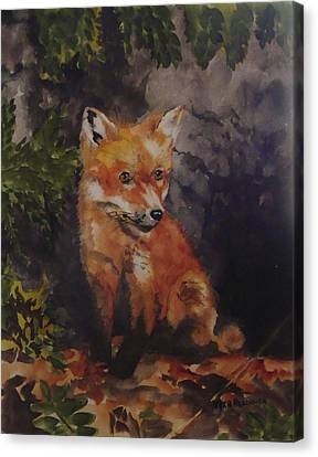 Babe In The Woods Canvas Print by Jean Blackmer