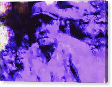 Babe Ruth 2b Canvas Print by Brian Reaves