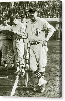 Baseball Glove Canvas Print - Babe Ruth All Stars by Jon Neidert