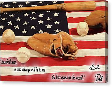 Babe Ruth Baseball Quote Canvas Print by Dan Sproul