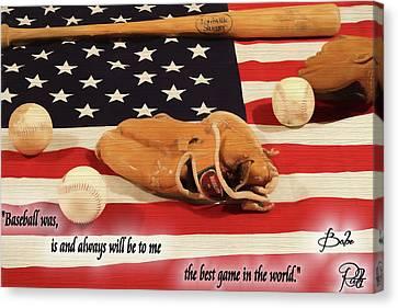 Babe Ruth Baseball Quote Canvas Print