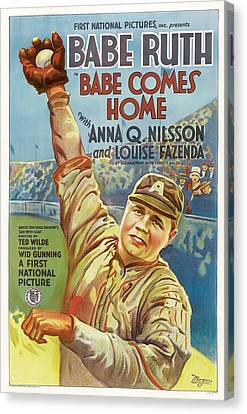 Babe Ruth Comes Home 1927 Canvas Print by Mountain Dreams
