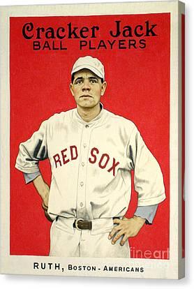 Babe Ruth Cracker Jack Card Canvas Print
