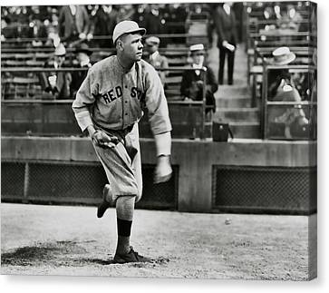Babe Ruth - Pitcher Boston Red Sox  1915 Canvas Print by Daniel Hagerman