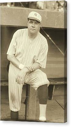Babe Ruth Posing Canvas Print by Padre Art