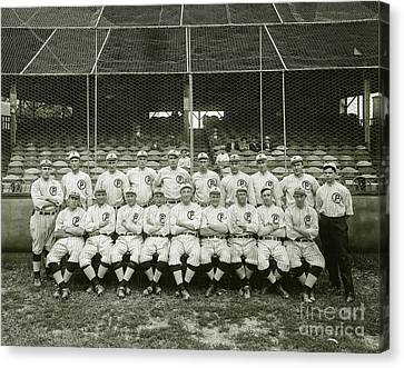 Old Pitcher Canvas Print - Babe Ruth Providence Grays Team Photo by Jon Neidert