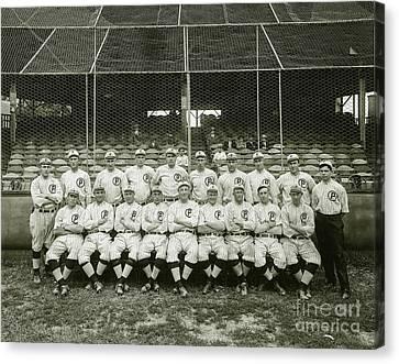 Babe Ruth Providence Grays Team Photo Canvas Print