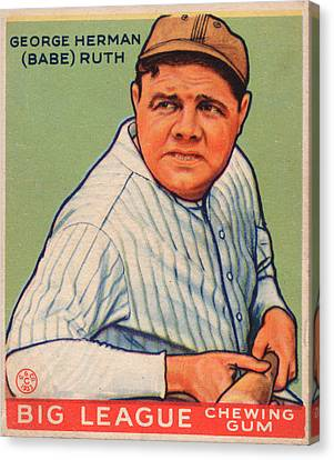 Babe Ruth Canvas Print by Vintage Pix