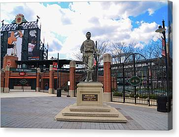 Canvas Print featuring the photograph Babes Dream - Camden Yards Baltimore by Bill Cannon