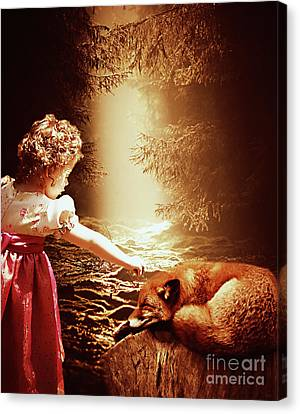Babes In The Woods Canvas Print by KaFra Art