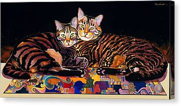Baby And Critter Canvas Print by Bob Coonts
