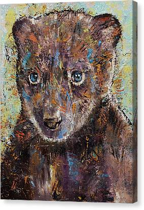 Baby Bear Canvas Print by Michael Creese