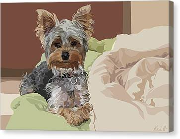 Baby Bedhead Canvas Print by Kris Hackleman