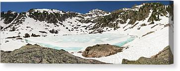 Baby Blue Pitkin Lake Canvas Print by Cary Leppert