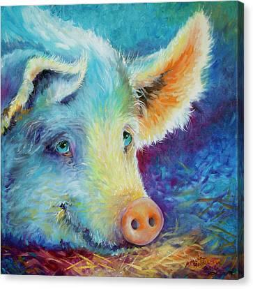 Canvas Print - Baby Blues Piggy by Marcia Baldwin