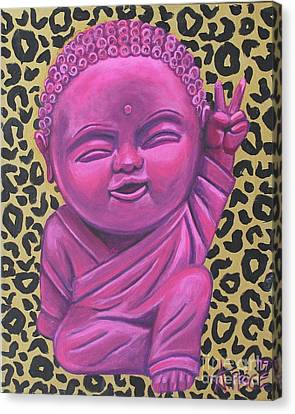 Canvas Print featuring the painting Baby Buddha 2 by Ashley Price