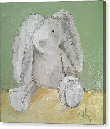 Baby Bunny Canvas Print by Barbara Andolsek