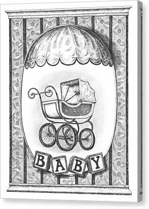 Baby Carriage Canvas Print by Adam Zebediah Joseph