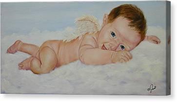 Baby Cupid Canvas Print by Joni McPherson