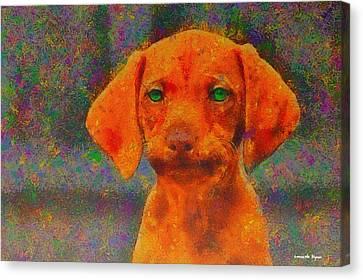 Baby Dog - Da Canvas Print by Leonardo Digenio