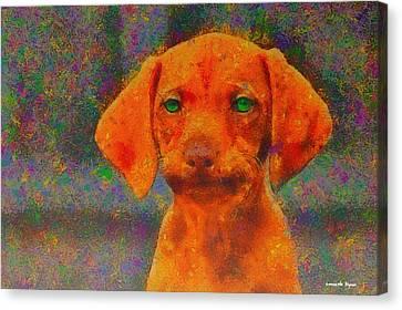 Copper Canvas Print - Baby Dog - Da by Leonardo Digenio