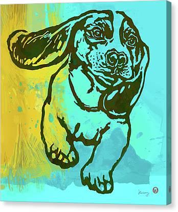 Baby - Dog Pop Art Poster Canvas Print