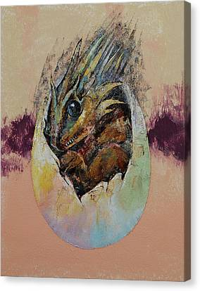 Baby Dragon Canvas Print by Michael Creese