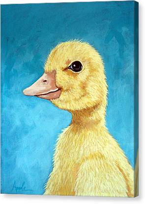 Baby Duck - Spring Duckling Canvas Print
