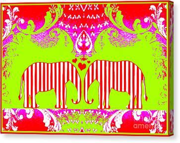Baby Elephant Love  Canvas Print