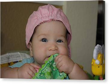 Canvas Print featuring the photograph Baby Face by Michael Albright